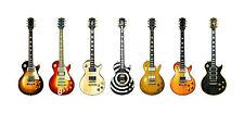 Gibson Les Paul Guitar Panorama Print. 7 Famous Gibson Les Paul's