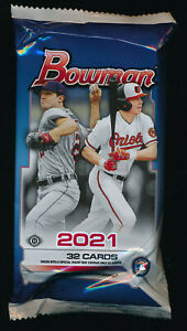 2021 BOWMAN BASEBALL JUMBO HTA HOBBY PACK (1) w/CHROME BRAND NEW FACTORY SEALED