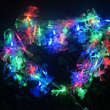 10M 60 LED Snow Man Shaped Fiber Optic Fairy String Party Wedding Xmas Decor New