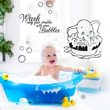 DUMBO DISNEY Wash away your troubles NURSERY Baby Vinyl Wall  Stickers Decal