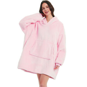 Winter Blankets Sleeve Ultra Plush Blanket Hoodie Warm Flannel Hooded clothes