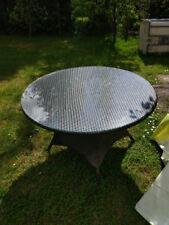 Rattan Gartentisch mit Glasplatte