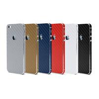 3D Carbon Fiber Full Body Vinyl Wrap Sticker Skin Cover Apple iPhone 4 4S 5 5S