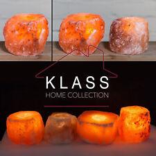 4 X Himalayan Crystal Rock Salt Candle Tea Light Holder 100 Natural Xmas Gift