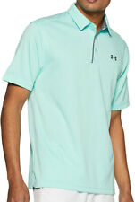 New Mens Under Armour Heat Gear Neo Turquoise Short Sleeve Golf Polo Shirt S