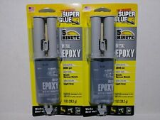2 METAL EPOXY 2500 psi SUPER GLUE 5 Minute Stainless Steel Copper Aluminum 15212
