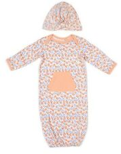 Jessica Simpson Baby Gown Flower Print Peach 0-3 M