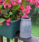 Old Small 8 H PA Stoneware Canning Jar w Blue Stencil