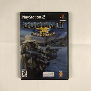 SOCOM II: U.S. Navy SEALs PS2 (Sony PlayStation 2, 2003) Complete Tested Works
