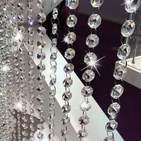 1m Acrylic Crystal Bead Chandelier Curtain Wedding Hanging Drop Wedding Decors