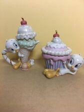Lenox Looney Tunes Tweety Bird Ice Cream Creamer, Cupcake Sugar Bowl Tea Set