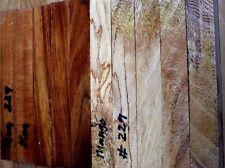 """HAWAIIAN SPALTED MANGO WOOD/KOA PENBLANKS   #229(5EA.)( 6"""" X 3/4"""" X 3/4"""")"""