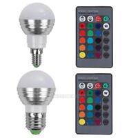 UN3F E27/E14 LED RGB Bulb Lamp AC110V 220V 5W LED RGB Spot Light Remote Light