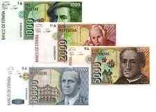 Spagna 4 Banconote :1000, 2000, 5000, 10000 Pesetas 1992 ( Riproduzione)