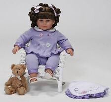 "NIP-Molly P Originals girl lavender 3 pc. set for 19"". girl doll"