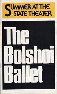 Bolshoi Ballet Playbill 1979 Lincoln Center