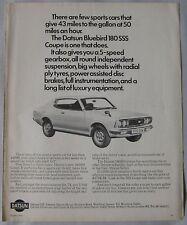 1974 Datsun Bluebird 180SS Original advert