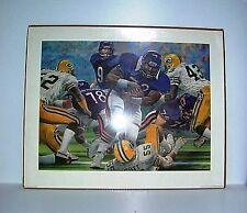 1985 Bears Packers Fridge Touchdown Merv Corning SUPER BOWL POSTER  Art Print
