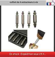 Coffret de 4 extracteurs à vis bois métaux goujon