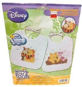 Janlynn Disney Winnie The Pooh Snoozy Day Bibs Cross Stitch Kit