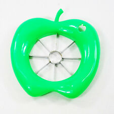 Fun Green  Apple Pears Slicer Cutter Fruit Wedger with Hard Steel Cutter