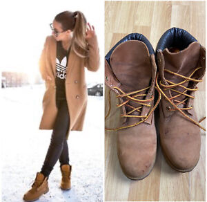 Timberland ladies Genuine Leather Waterproof boots Size US 8M UK 6 EUR 39