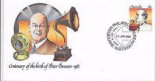 Australie Pre Paid Cover 27/1/82 CENTENAIRE DE PETER DAWSON naissance.