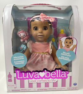 Spin Master Dark Brown Hair & Tanned Skin Luvabella Realistic Doll