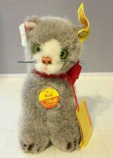 "New Vintage Steiff ""Susi"" Gray Cat #1493,13"