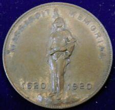 New Listing1920 Massasoit (Native American Chief) Memorial Medal, Plymouth Massachusetts