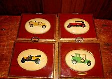 Antique Classic Car Automobile Wall Plaques Set of 4