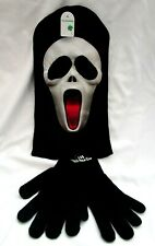 Halloween Unisex Scary Movie Red Tongue Pullover mask Ski Mask+Black Gloves-New!