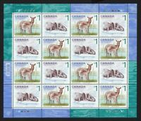 DEER = WALRUS = FULL Minisheet of 16 Canada 2005 #1688-9 (1689a)MNH