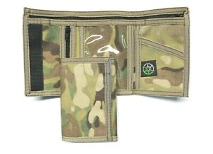 Multicam Camo Military Nylon Trifold Wallet by Sprocket - Made in USA