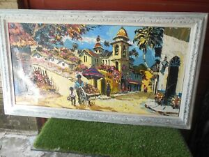 Vintage Signed Paul Blaine Henrie Oil Painting on Canvas - Huge!
