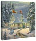 Thomas Kinkade Studios Midnight Delivery 14 x 14 Gallery Wrapped Canvas