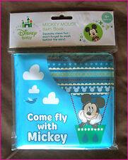 DISNEY Come Fly MICKEY MOUSE BABY BATH BOOK - 13cm Soft Bathtime Bubble Bk - NEW