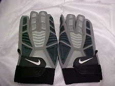 Nike D-Tack Demolition Football Gloves Gray/Black Leather Palm Gloves Size 2XL
