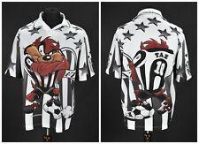 Vintage 1999 Warner Bros Tasmanian Devil Football Jersey T-Shirt 90s Size XL
