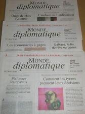 LOT 3 JOURNAUX / LE MONDE DIPLOMATIQUE N° 695-696-697 / FEV, MARS, AVRIL 2012
