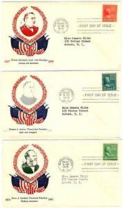 US #825/827 ML-59 20-22c FDC Prexie W.M. Grandy, Matched Address (3)