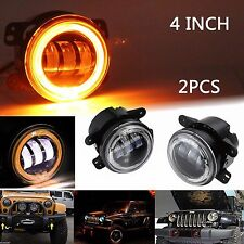 Pair 30W 4inch Round LED Fog Light Driving Lamp DRL For  07-15 Jeep Wrangler