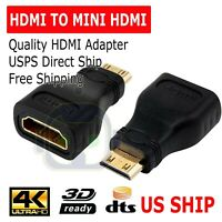Female Adapter V1.4 Connector HDTV~iiJQ Male to HDMI Type A Mini HDMI Type C