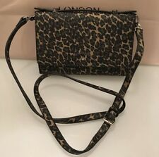 Vivienne Westwood iPhone Wallet Leopard Green W/ Shoulder Strap