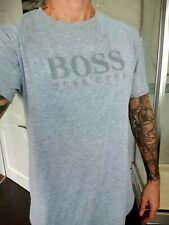 Hugo Boss T Shirt Top Grey Green Label XXXL Used Excellent Cond - WAS £100