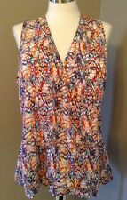 Kardashian Kollection Women's Faux Wrap Top Confetti Racer Back Plus Sz 20W  NWT