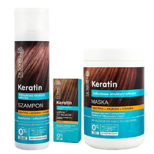 Dr Sante Keratin and Collagen Hair Shampoo Mask and Serum Set for Brittle Hair