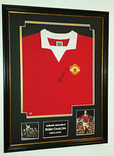 ** BOBBY CHARLTON of Manchester United Signed Shirt Display ** AFTAL DEALER CERT