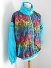 Vintage 80s pattern print ugly shell suit tracksuit bodywarmer M VGC sportswear