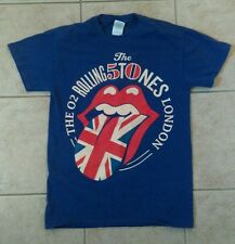 ROLLING STONES 50 YEARS T-SHIRT /LONDON WITH DATES ON BACK -SIZE S *RARE*